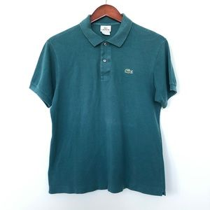 Lacoste Teal Polo Shirt Size 4